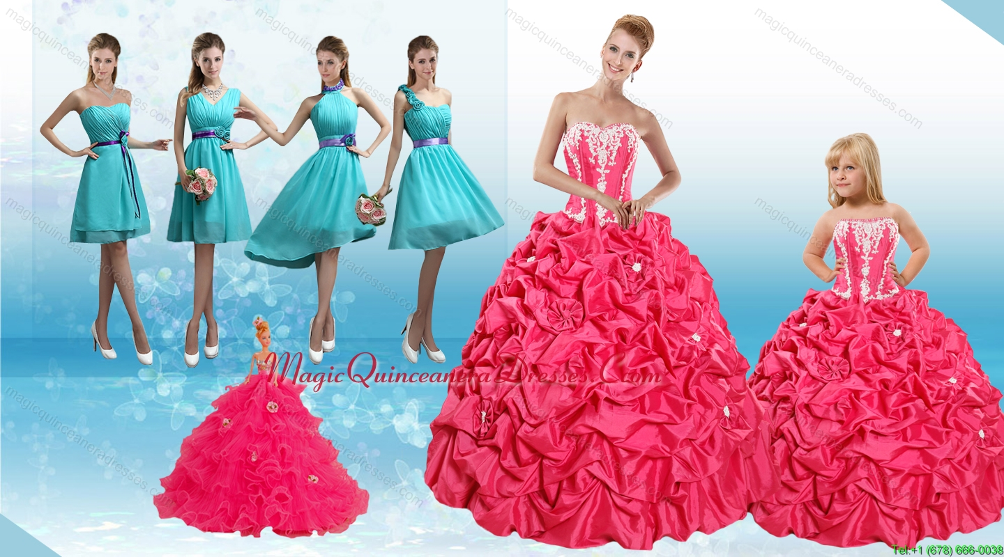 sweetheart pick ups and appliques quinceanera dress and baby blue