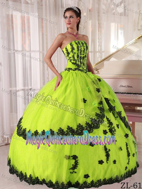 black and yellow | new quinceanera dresses