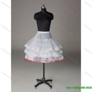 Custom Made Organza Mini-length Prom Petticoat with Lace