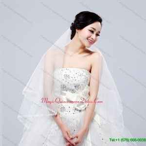 Fairy Two Tier with Lace Angle Cut Edg Wedding Veils