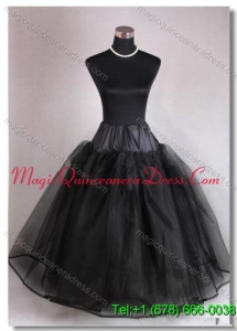 High End Organza Ball Gown Floor length Black Petticoat