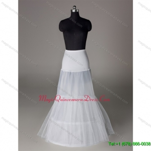 Trendy Organza Mermaid Floor length White Petticoat