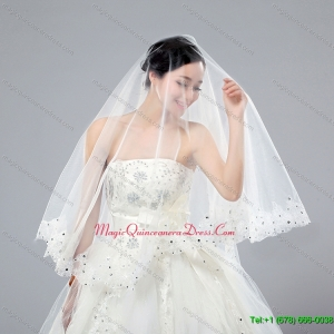 One Tier Cut Edge White Classic Chapel Bridal Veils