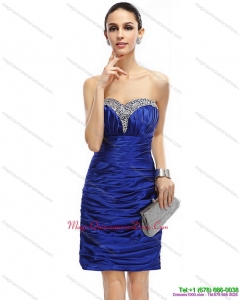 Affordable Sweetheart Dama Dresses with Ruching and Beading