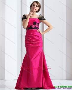Affordable 2015 Dama Dress with Brush Train and Hand Made Flowers