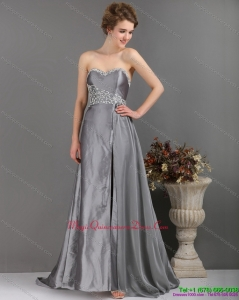 Affordable Brush Train Sliver Dama Dresses with Appliques