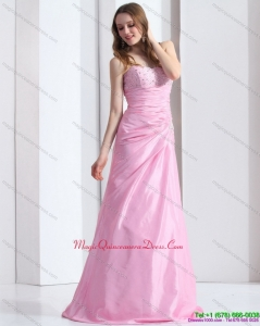 2015 Discount Baby Pink Sweetheart Dama Dress with Beading and Ruching