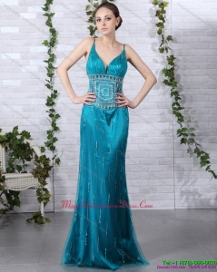 New Arrival Beading Dama Dresses with Brush Train and Spaghetti Straps