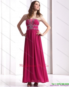 New Arrival Strapless Floor Length 2015 Dama Dress with Beading