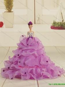 Pretty Bowknot Organza Lilac Barbie Doll Dress