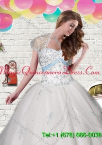 Elegant Tulle White Short Quinceanera Jacket with Beading and Appliques