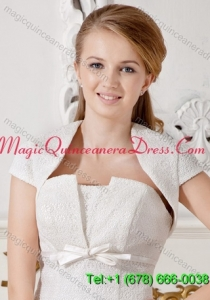 White Short Sleeves Jacket For Formal Occasion