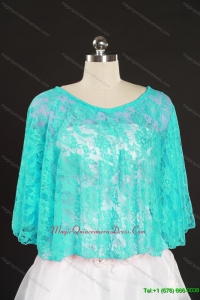 Turquoise Beading Lace Hot Sale Wraps for 2014