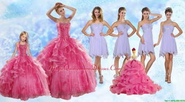 Strapless Beading Coral Red Sweet 16 Dress and Beading Short Lavender Prom Dresses and Halter Top Beading Little Girl Dress