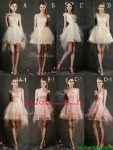 Hot Sale Mini Length Tulle Dama Dress with Belt