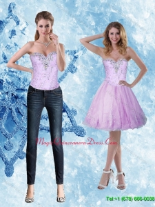 Discount Beading and Appliques Sweetheart Dama Dress for 2015