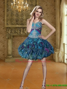 Discount Appliques and Pick Ups Short Dama Dress for 2015
