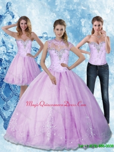 Custom Made 2015 Sweetheart Quinceanera Dresses with Beading and Appliques