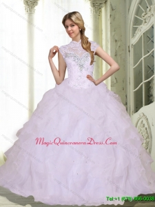 Hot Sale Sweetheart 2015 Quinceanera Dresses with Beading and Ruffles