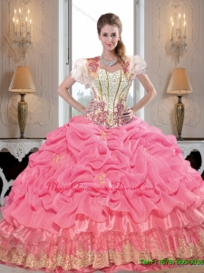 Comfortable Sweetheart Quinceanera Dresses with Appliques and Beading
