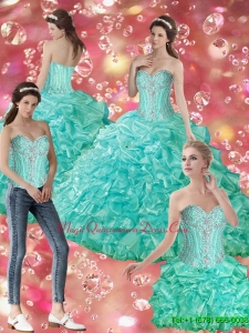 Exquisite Ball Gown Sweetheart Quinceanera Dresses with Beading