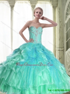 Perfect Lace Up Sweetheart Quinceanera Dresses with Beading