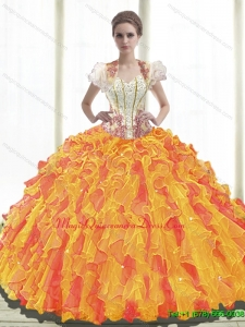 Romantic Ball Gown Sweetheart Quinceanera Dresses with Ruffles