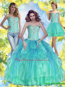 2015 Inexpensive Ball Gown Sweetheart Quinceanera Dresses with Beading