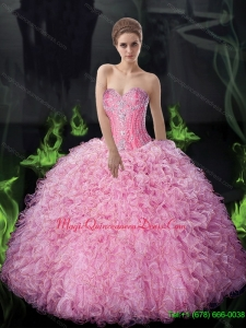 Sophisticated Ball Gown Beaded and Ruffles Quinceanera Dresses