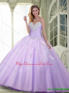 Sturning Beaded and Appliques Quinceanera Dresses in Lavender