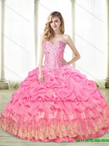 The Super Hot Beaded Quinceanera Dresses with Appliques
