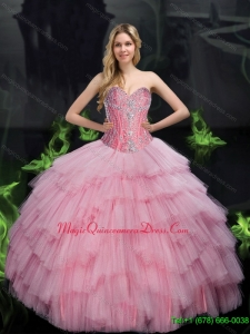 Baby pink puffy dresses | new quinceanera dresses