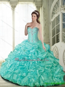 Romantic Ball Gown Quinceanera Dresses with Beading for 2015