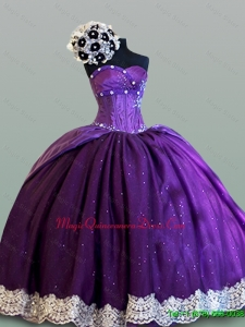 Custom Made Ball Gown Sweetheart Quinceanera Dresses with Lace for 2015