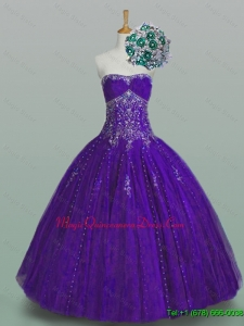 Custom Made Strapless Quinceanera Dresses with Beading and Appliques for Winter