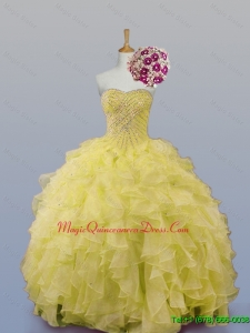 Custom Made Sweetheart Quinceanera Dresses with Beading and Ruffles