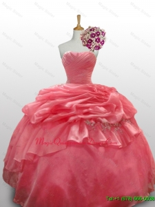 2015 Custom Made Beaded Sweetheart Quinceanera Dresses for 2015