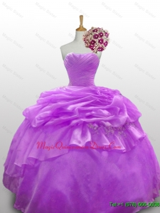 2015 In Stock Quinceanera Dresses with Beading and Paillette for Fall