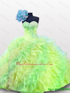 2015 In Stock Sweetheart Quinceanera Dresses in Multi Color