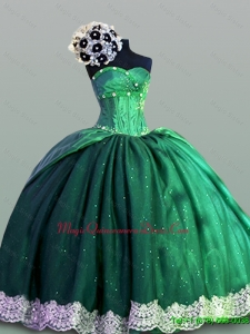 Sweetheart Lace In Stock Quinceanera Dresses in Taffeta for 2015