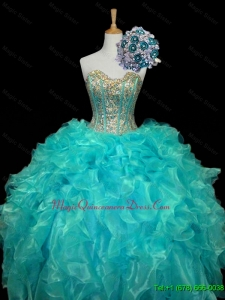 Fast Delivery Sweetheart Quinceanera Dresses with Sequins and Ruffles