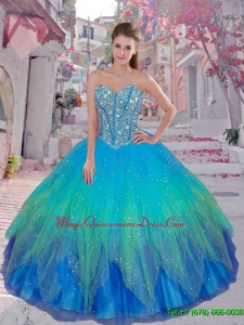 Discount Beaded Ball Gown Quinceanera Dresses for 2016