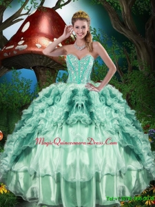 Discount Gorgeous Sweetheart Quinceanera Dresses with Beading and Ruffles