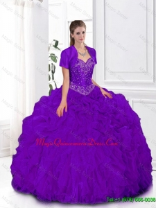2016 Summer Hot Sale Ball Gown Sweetheart Quinceanera Gowns in Purple