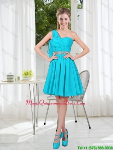 Beautiful A Line One Shoulder Dama Dresses for Party