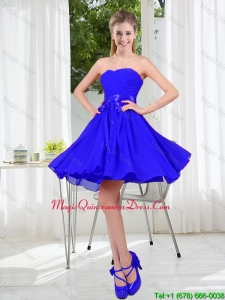 New Style A Line Sweetheart Dama Dresses for Wedding Party