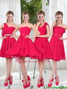 Romantic A Line Bowknot Dama Dresses in Chiffon