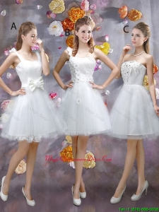 Sophisticated Appliques White Dama Dresses with Mini Length