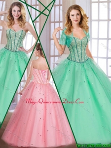 Luxury Sweetheart Quinceanera Dresses with Beading for 2016