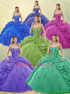 Luxury Beading and Appliques Quinceanera Dresses for 2016
